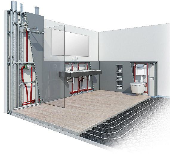 Systemy instalacyjne podstawą nowoczesnej łazienki